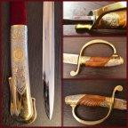 Сабля коллекционная, сувенирная, инкрустированная золотом и серебром 1995г Златоуст.