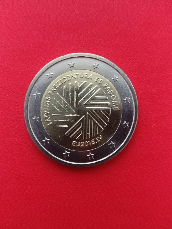 Латвия 2 евро 2015 г. ПРЕДСЕДАТЕЛЬСТВО В ЕС