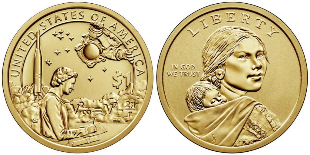 NEW США 1 доллар 2019 г. Инженер Мэри Голда Росс, индейцы в космической программе UNC