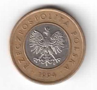 Польша 2 злотых 1994 год