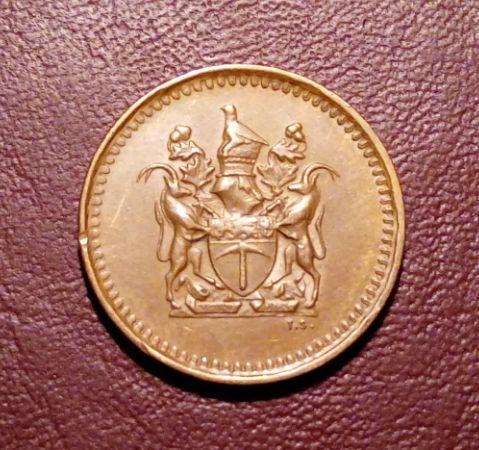 Родезия 1 цент 1977 года