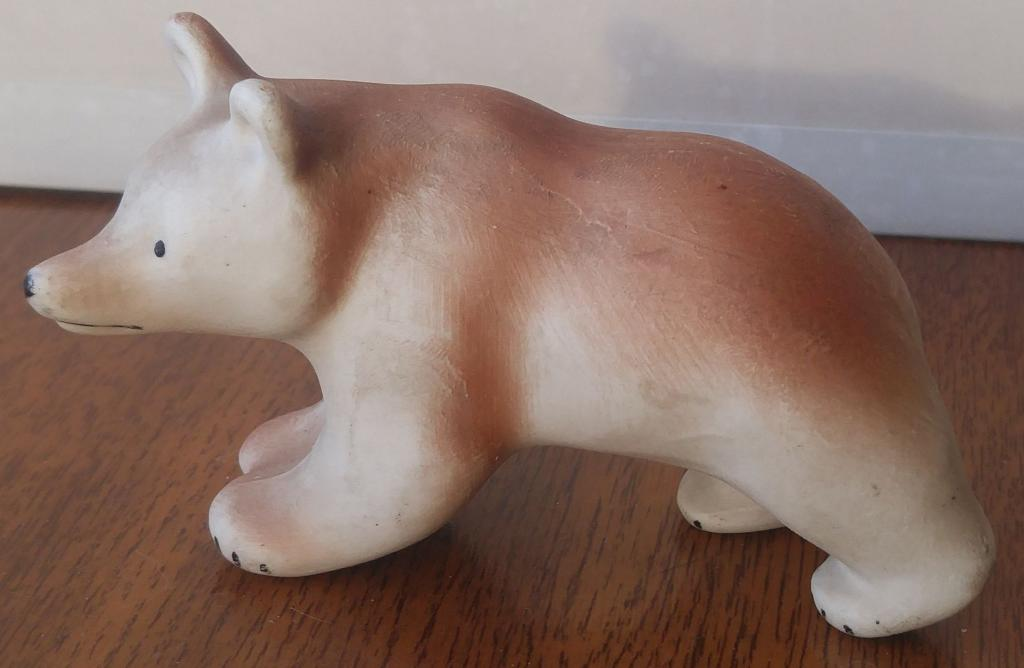 Статуэтка Медведь Турыгинская гжель
