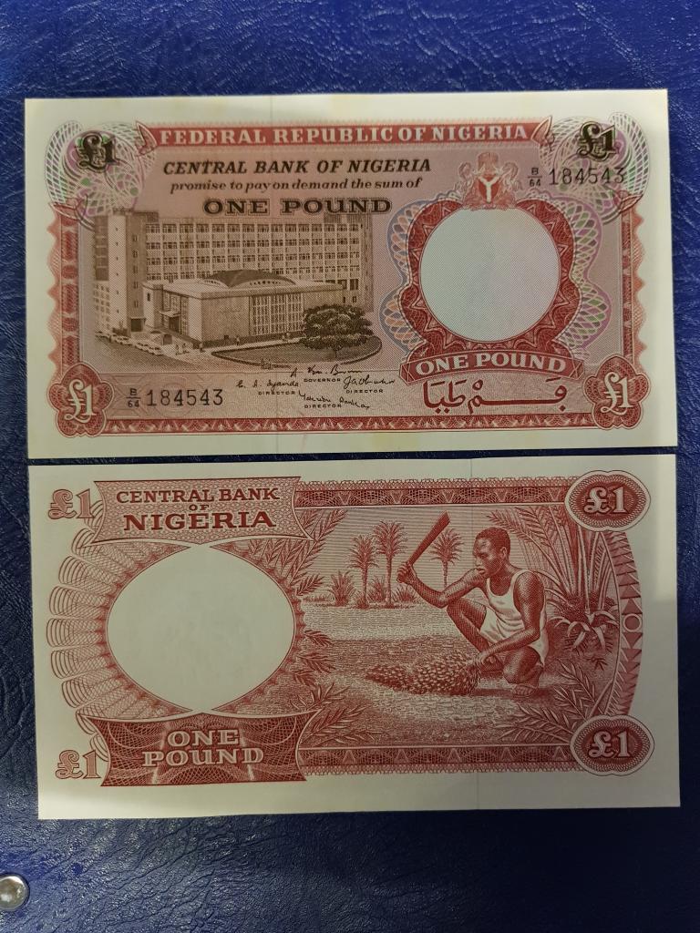 Нигерия 1 найра 1964г ПРЕСС/UNC