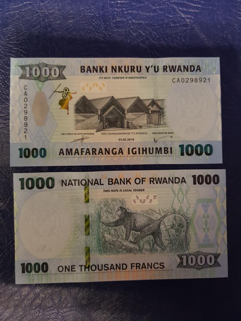 Руанда 1000 франков 2019г ПРЕСС/UNC