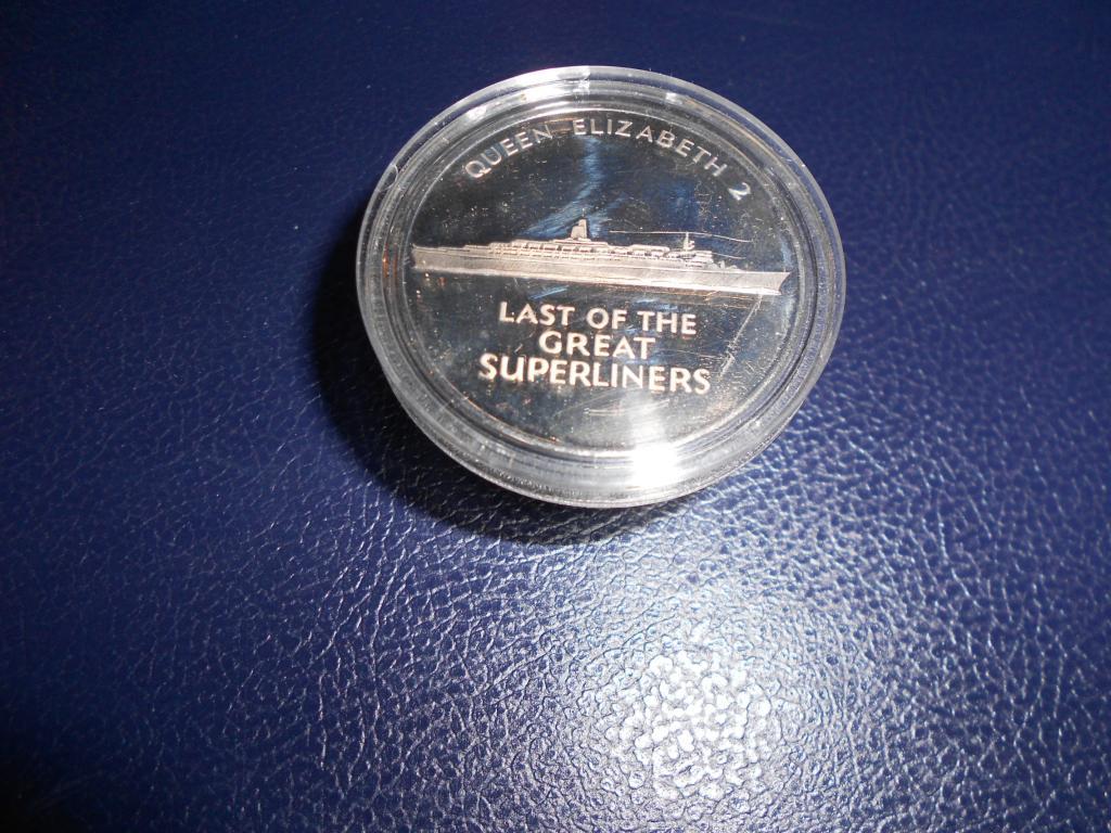 медалька плакетка - последний суперлайнер.