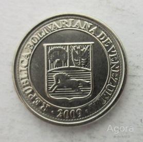 Венесуэла 10 сентимо 2009 Мешковая