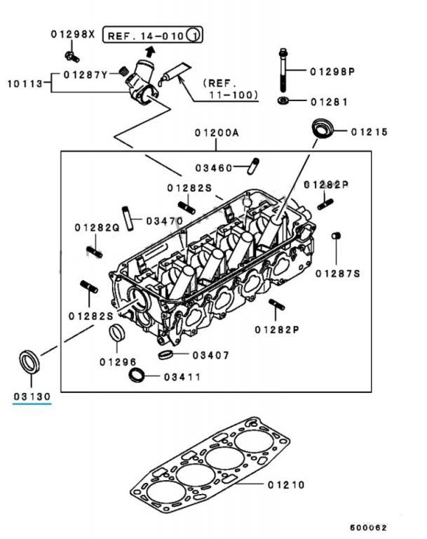 Сальник распредвала для Mitsubishi (оригинальная запчасть)