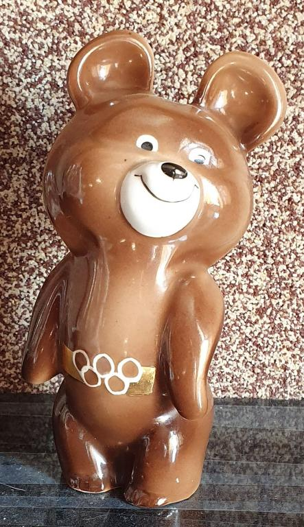 Статуэтка Олимпийский Мишка Дулево 13 см