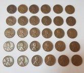 США 1 цент лот 30 монет. С 1940 по 1958 - пшеничные центы. Все разные. Дешево!