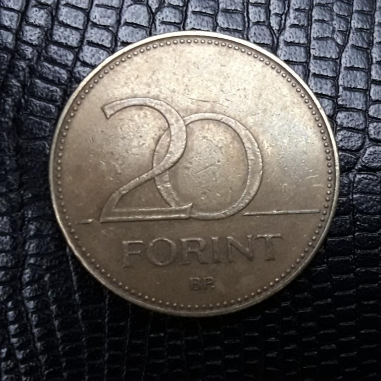 Венгрия, 20 форинтов 2007 года