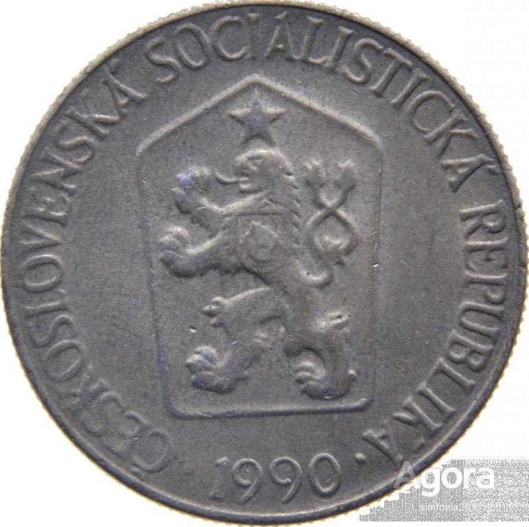 Чехословакия 1 крона 1990
