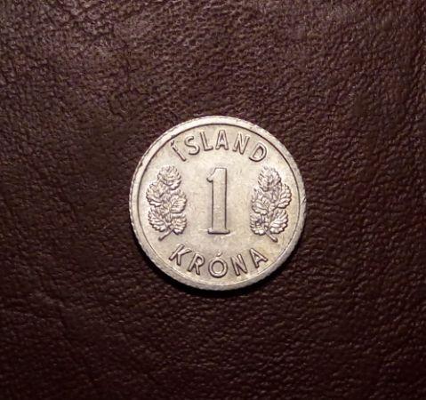 Исландия 1 крона 1978 года