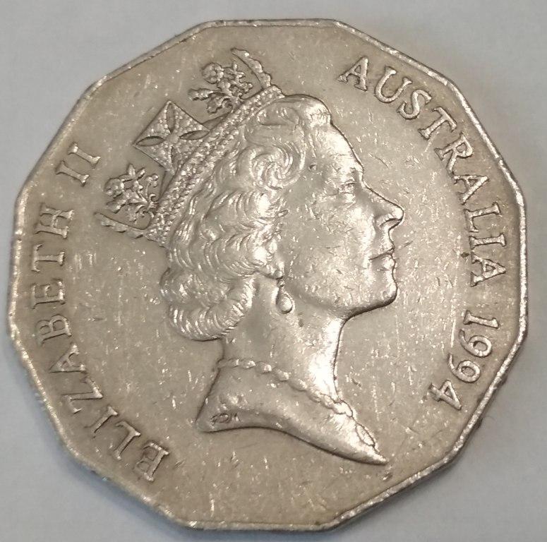 Австралия 50 центов 1994 г. Международный год семьи.