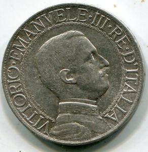 Италия, 1 лира 1913г. СЕРЕБРО
