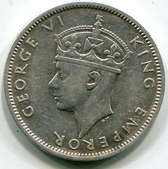 Фиджи, 1 шиллинг 1942г. СЕРЕБРО