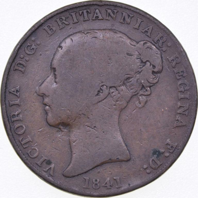 Джерси, 1/13 шиллинга 1841г.