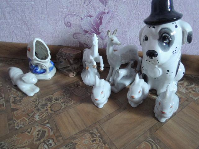 фарфоровые статуэтки-9 шт