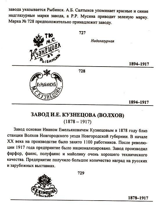 Марки российского фарфора 1750-1960 гг - на CD