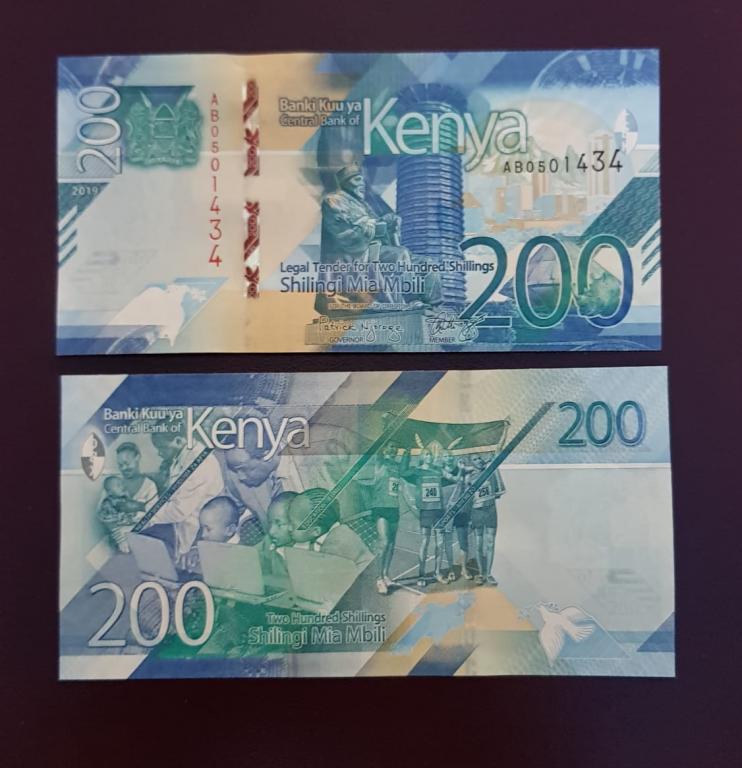 Кения 200 шиллингов 2019г. ПРЕСС/UNC