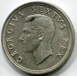 Южная Африка, 5 шиллингов 1952г. СЕРЕБРО