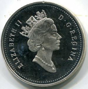 Канада, 1 доллар 1990г. СЕРЕБРО