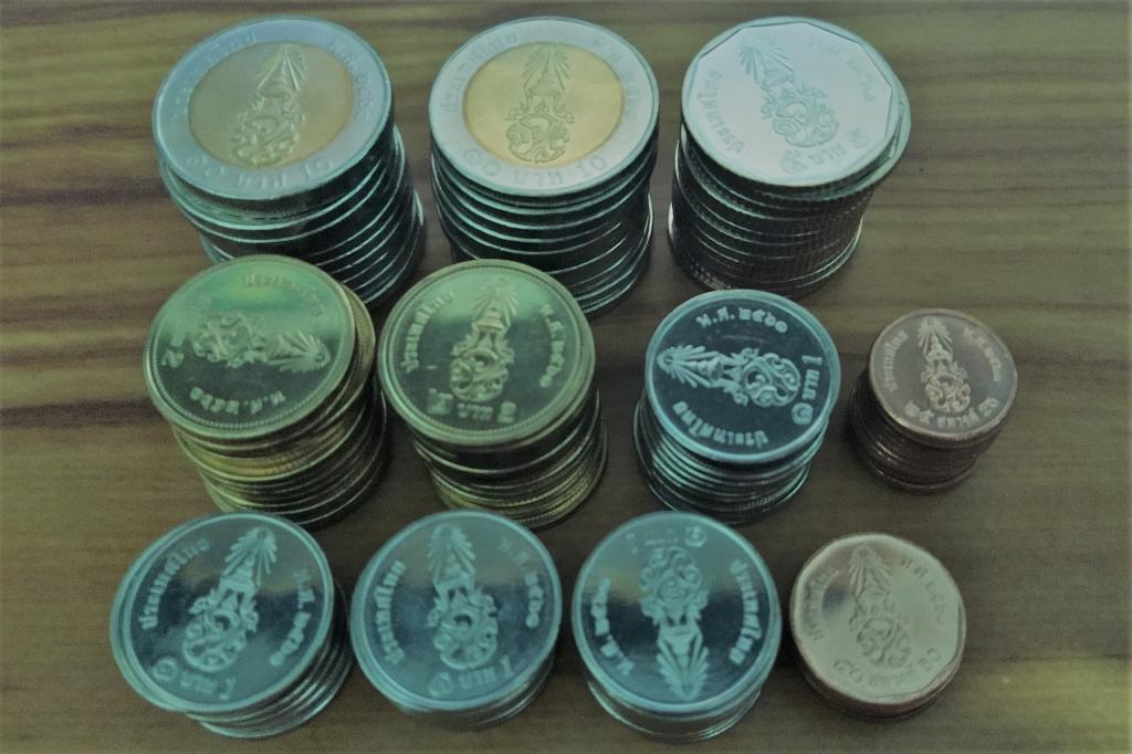 Мега лот! 130 монет! Таиланд Рама 10  Новый дизайн! 90% UNC!