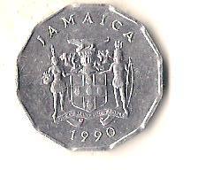 Ямайка 1 цент, 1990