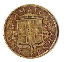 Ямайка 1 пенни, 1938
