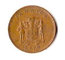 Ямайка 1 цент, 1970