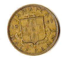 Ямайка ½ пенни, 1947