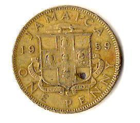 Ямайка 1 пенни, 1959