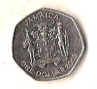Ямайка 1 доллар, 2005