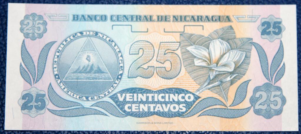 Никарагуа  25 сентаво  1991 г..   UNC!