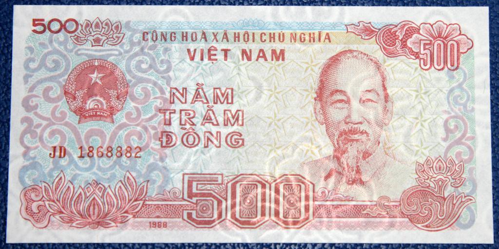 Вьетнам  500 донгов  1988 г.  UNC!