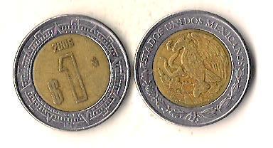 Мексика 1 песо, 2006