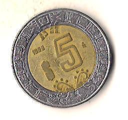 Мексика 5 песо, 1999