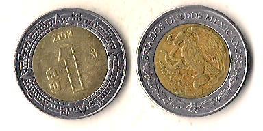 Мексика 1 песо, 2013