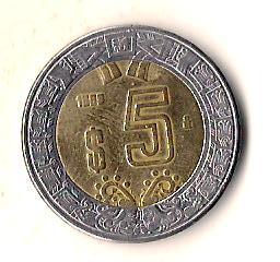 Мексика 5 песо, 1998