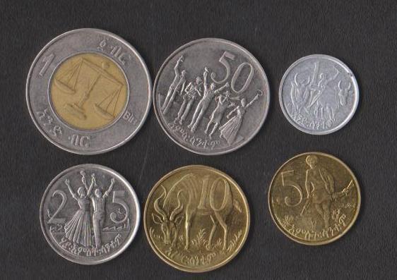 Эфиопия набор монет