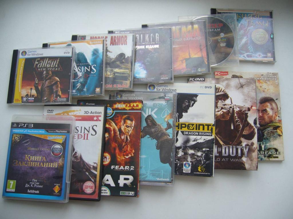 Диски 13шт+ 1шт. с играми. DVD,PC DVD, CD, PS3 (Цена за все.)