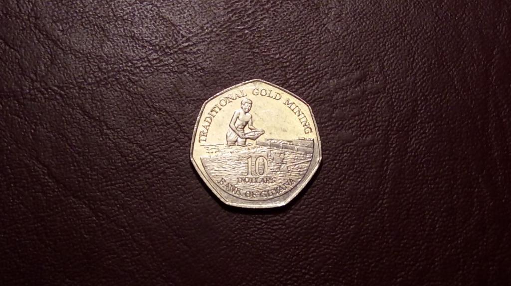 Гайана 10 долларов 1996 года