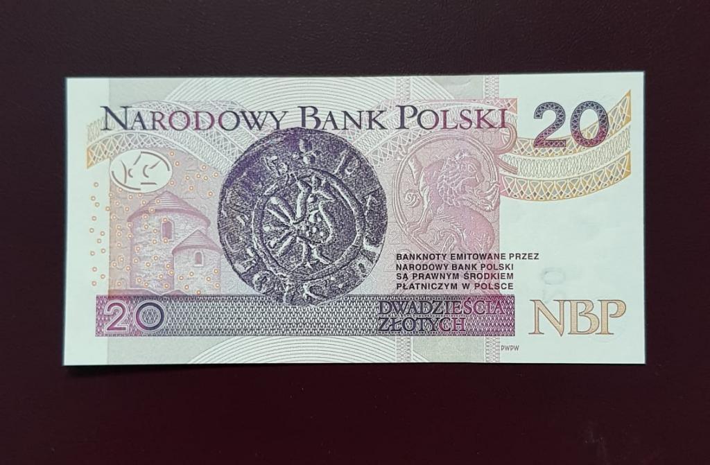 Польша 20 злотых  2012г ПРЕСС/UNC