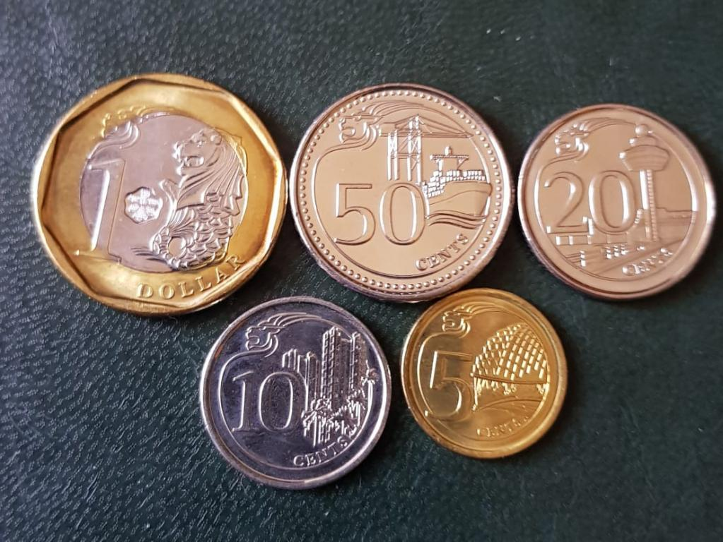 Сингапур Набор 5 монет UNC