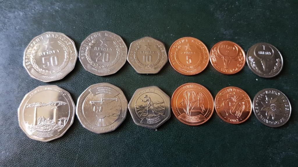 Мадагаскар Набор 6 монет(MIX) UNC