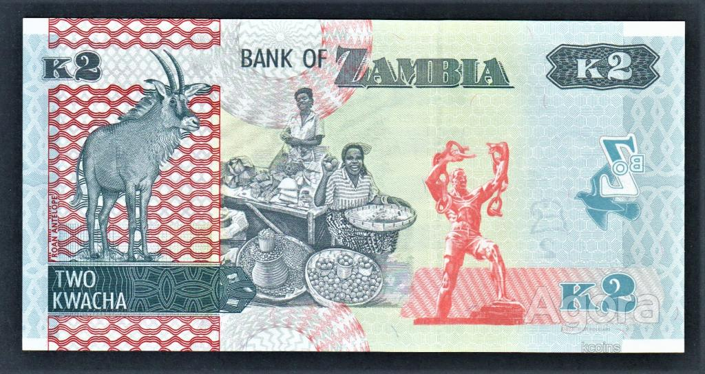 Замбия 2 квача 2018 год.
