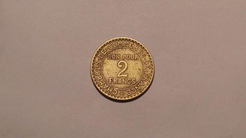 Франция 2 франка 1924 года