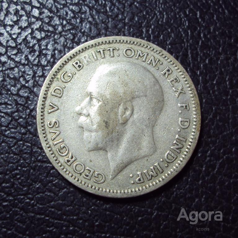 Великобритания 6 пенсов 1936 год.