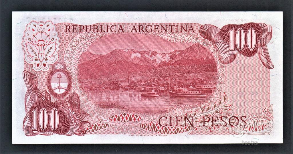 Аргентина 100 песо.