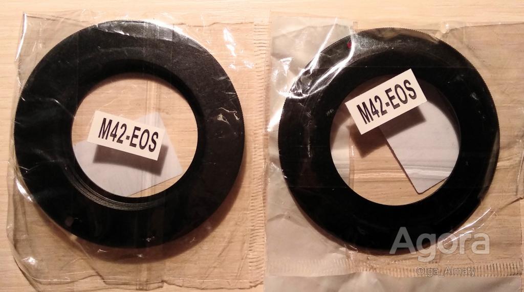 Универсальный винтовой переходник (адаптер) для объектива M42 Canon EOS.