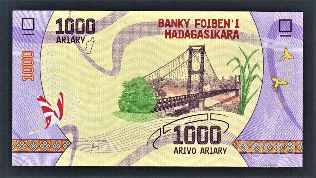 Мадагаскар 1000 ариари 2017 год.